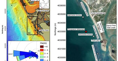 Artículo INMAR: Shipwrecks and man-made coastal structures as indicators of historical shoreline position. An interdisciplinary study in the Sancti Petri sand spit (Bay of Cádiz, SW Spain)